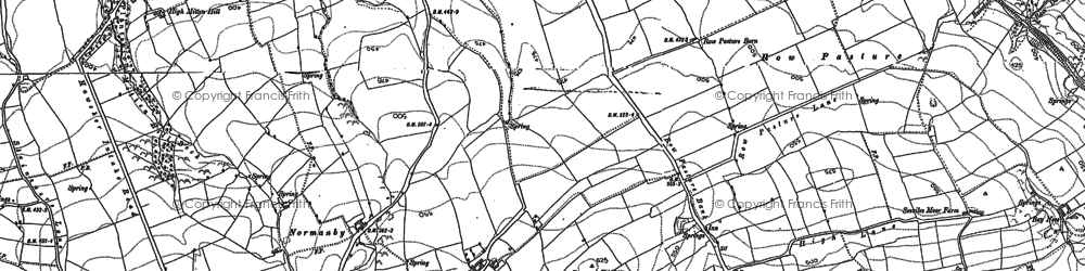 Old map of Latter Gate Hills in 1892