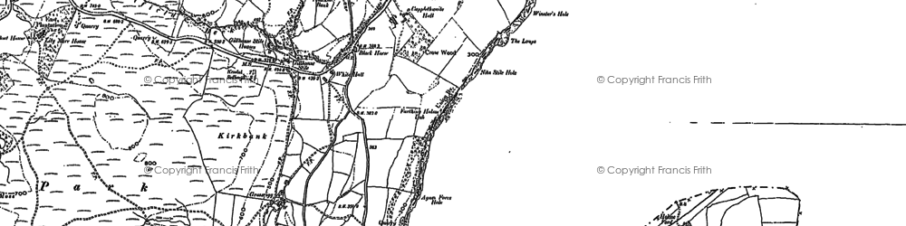 Old map of Abbot Holme in 1896
