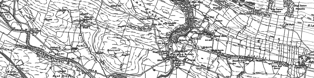 Old map of Hardraw in 1893