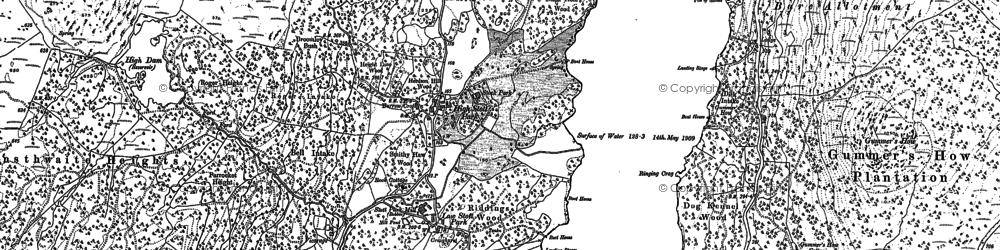 Old map of YMCA National Centre in 1912