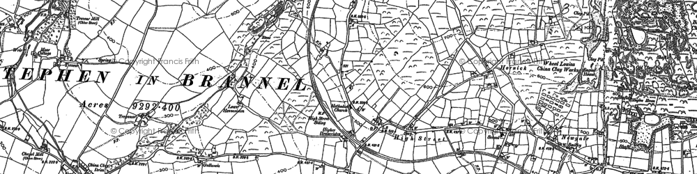 Old map of High Street in 1879