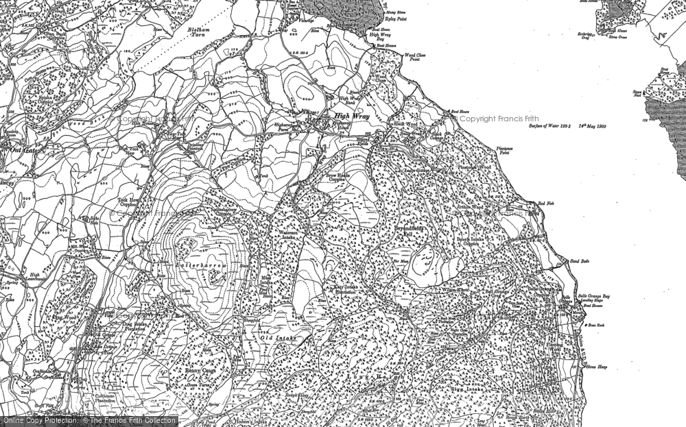 Old Map of Historic Map covering Arthur Wood in 1911