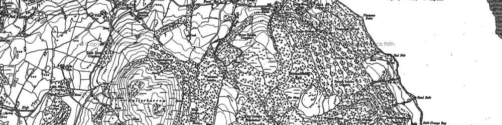 Old map of Arthur Wood in 1911