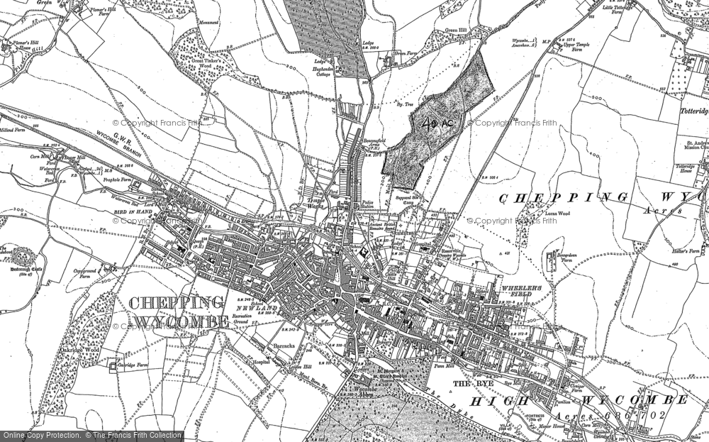 Map High Wycombe Old Maps of High Wycombe   Francis Frith