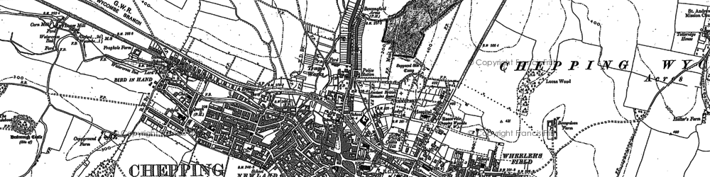 Old map of High Wycombe in 1897