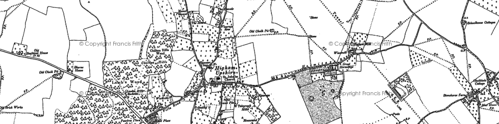 Old map of Higham in 1895
