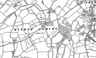 Old Map of Higham Gobion, 1899