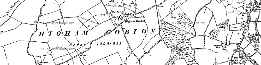 Old map of Westhey Manor in 1899