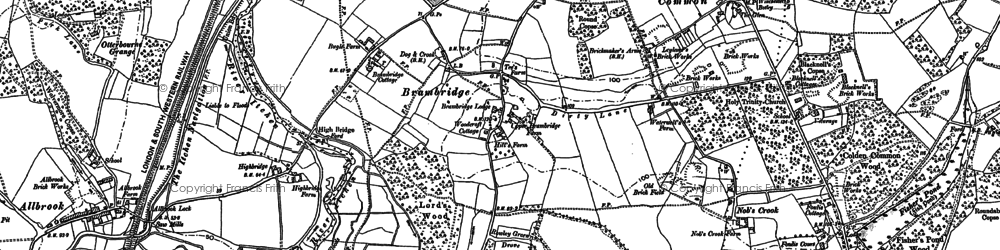 Old map of Allbrook in 1895