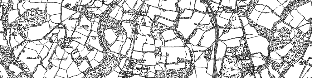 Old map of Whitestone in 1896