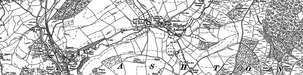 Old map of Whiteway Wood in 1887