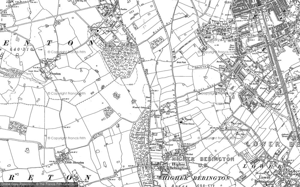 Old Maps of Higher Bebington Francis Frith