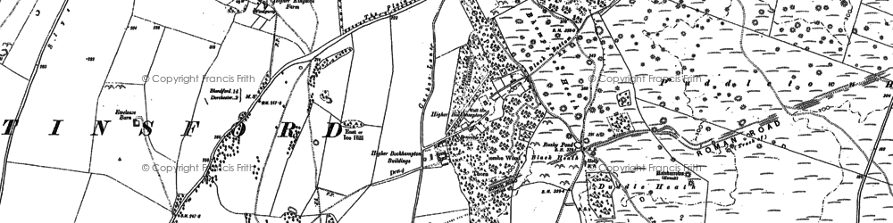 Old map of Higher Bockhampton in 1887