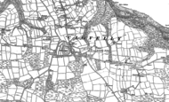 Old Map of Higher Clovelly, 1884 - 1904