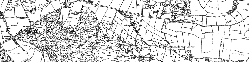 Old map of Tipton Cross in 1888