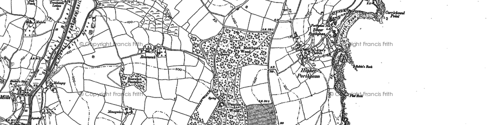 Old map of Porthpean in 1881