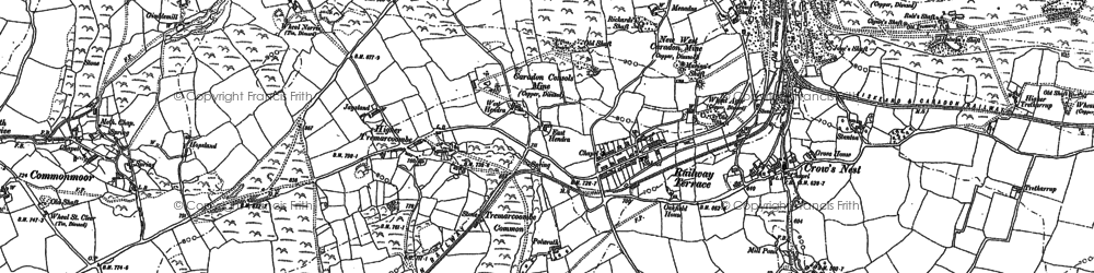 Old map of Higher Tremarcoombe in 1882
