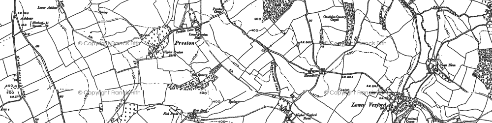 Old map of Willett Hill in 1886