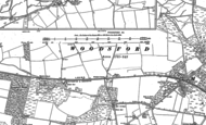 Old Map of Higher Woodsford, 1886 - 1887