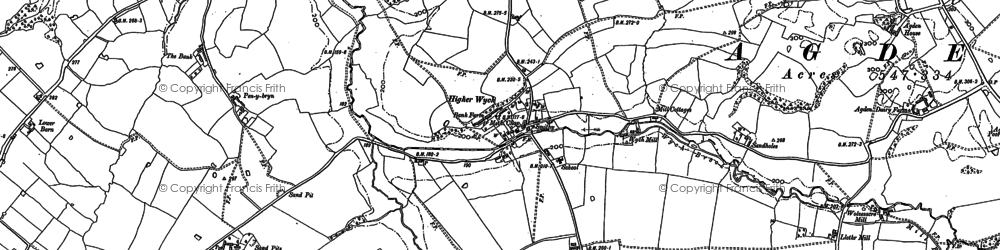 Old map of Wigland Hall in 1909