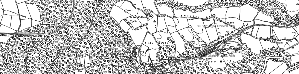 Old map of Victoria Garesfield in 1915