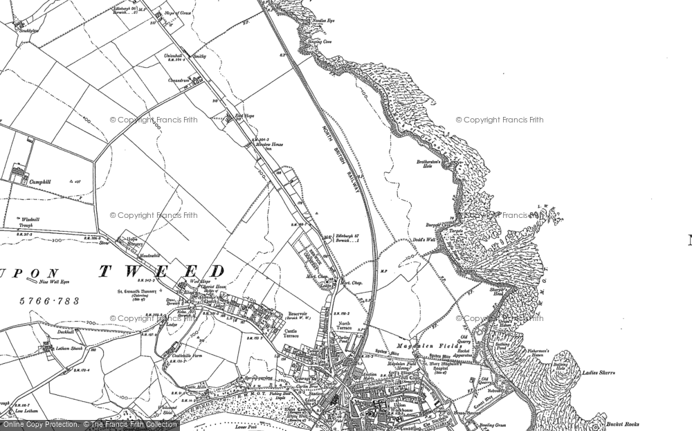 Old Map of Historic Map covering Letham Shank in 1897