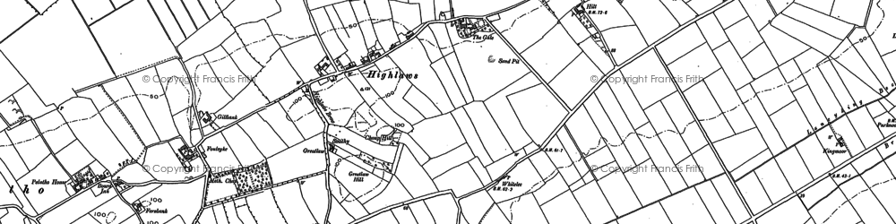 Old map of Abbey Cowper in 1899