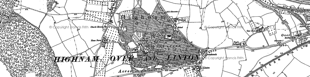 Old map of Highnam in 1882