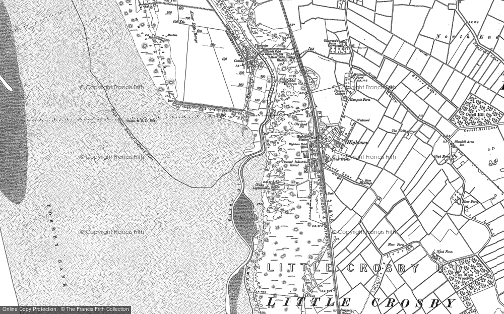 Old Map of Historic Map covering Alt Bridge in 1892
