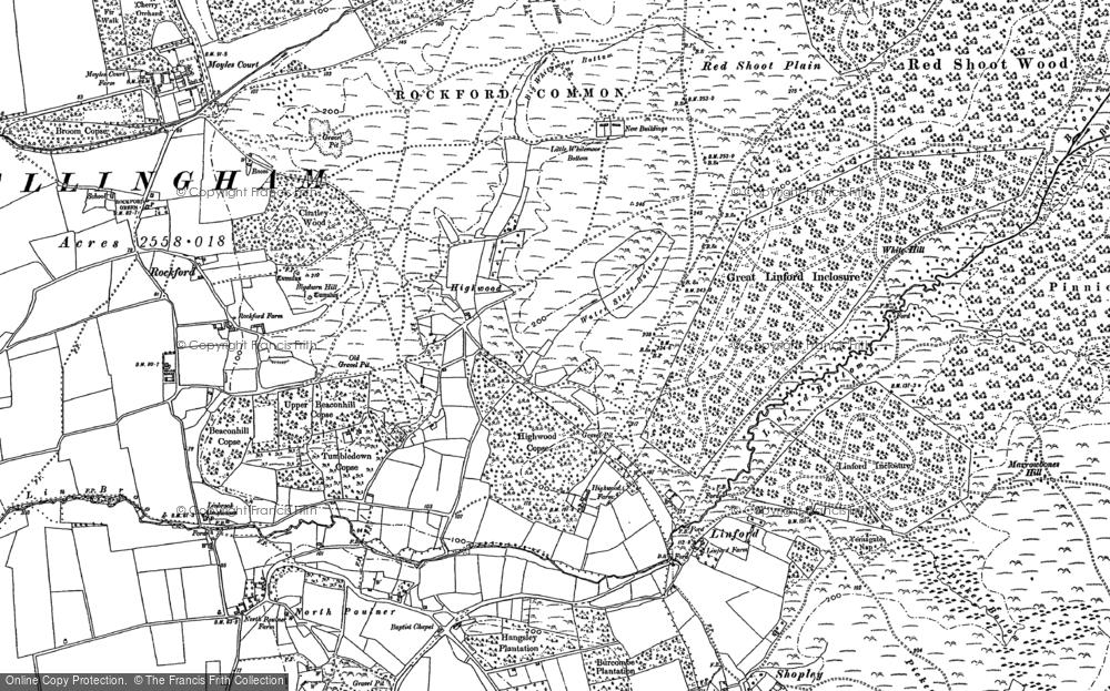 Old Map of Highwood, 1895 - 1908 in 1895