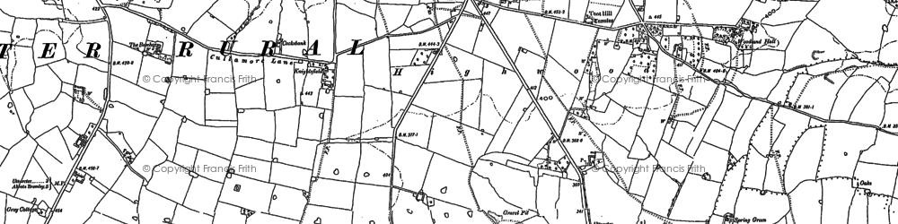Old map of Balance Hill in 1899