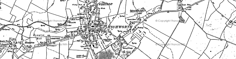 Old map of Highworth in 1910