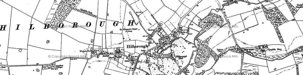 Old map of Wimbotsham Plantn in 1883