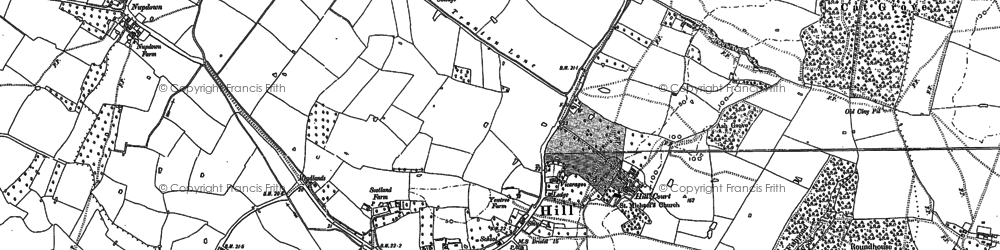 Old map of Hill in 1879