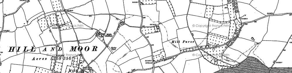 Old map of Badger's Hill in 1884