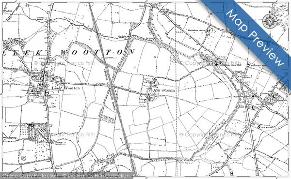 Historic Map covering Blackdown Manor