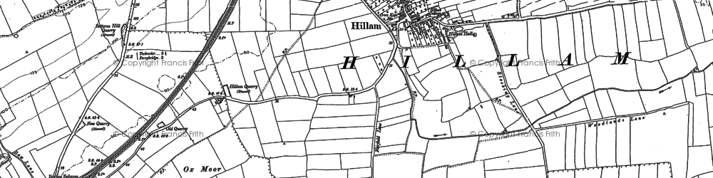 Old map of Hillam in 1889