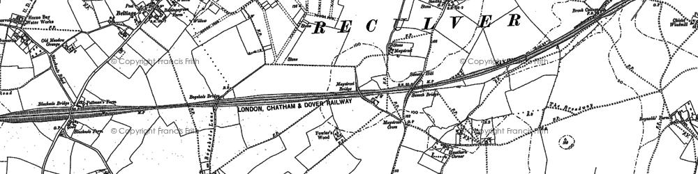 Old map of Beltinge in 1906