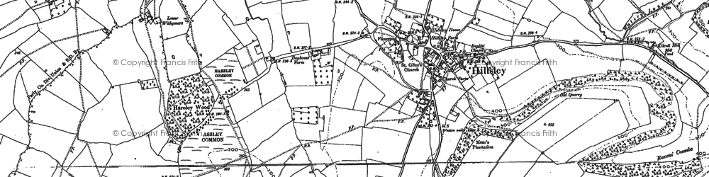 Old map of Assley Common in 1881