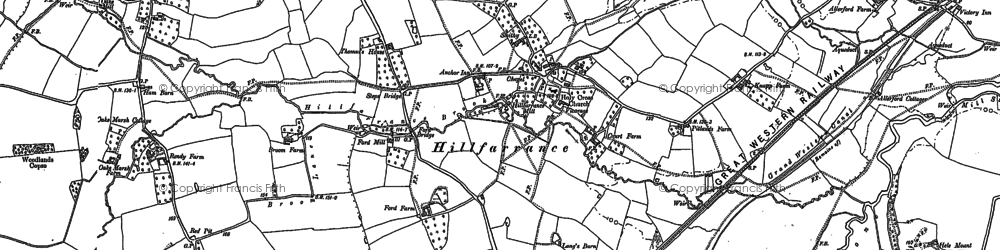 Old map of Allerford in 1887