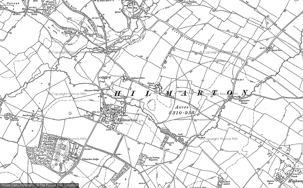 Old Map of Hilmarton, 1899 in 1899