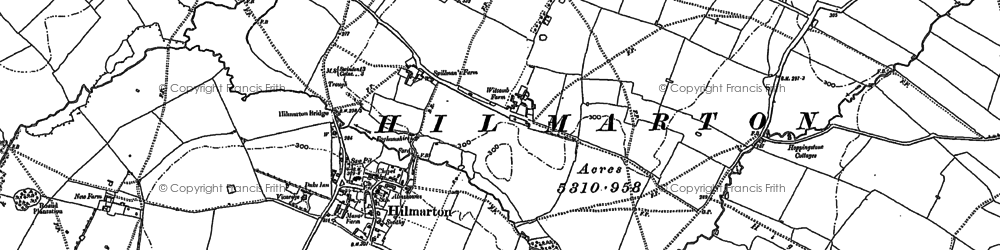 Old map of Hilmarton in 1899