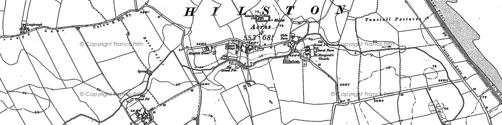 Old map of Admiral Storr's Tower in 1908