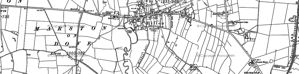 Old map of Hilton in 1881
