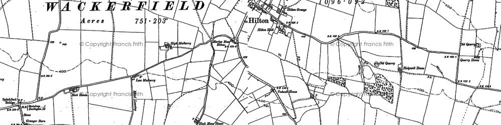 Old map of Todwell Ho in 1896