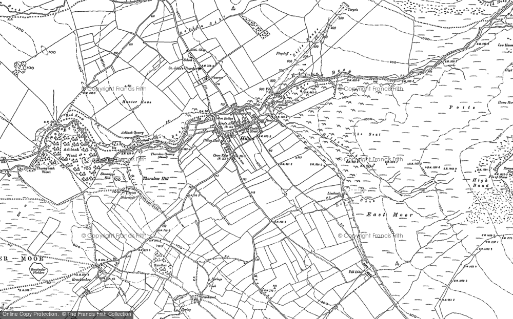 Old Map of Historic Map covering Bankwood in 1897