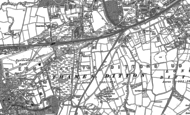 Old Map of Hinchley Wood, 1895