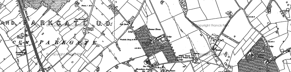 Old map of Westwood Grange in 1897