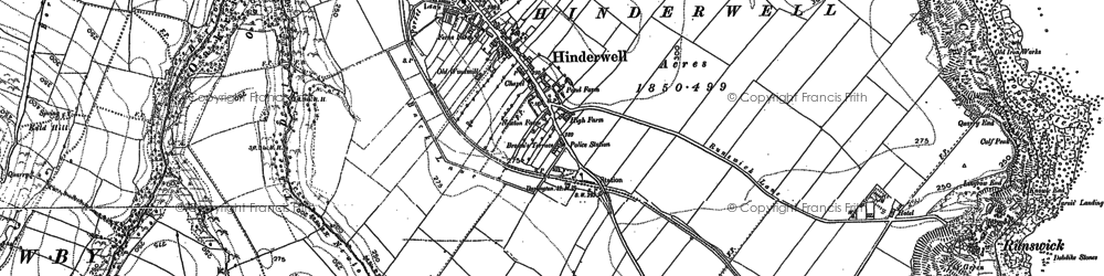 Old map of Hinderwell in 1913