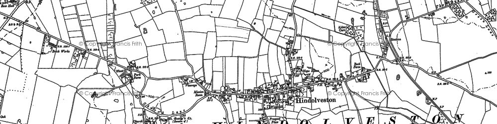 Old map of Wood Severals in 1885